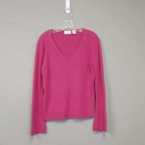 Envision Avenue Pink plus size bell sleeve sweater